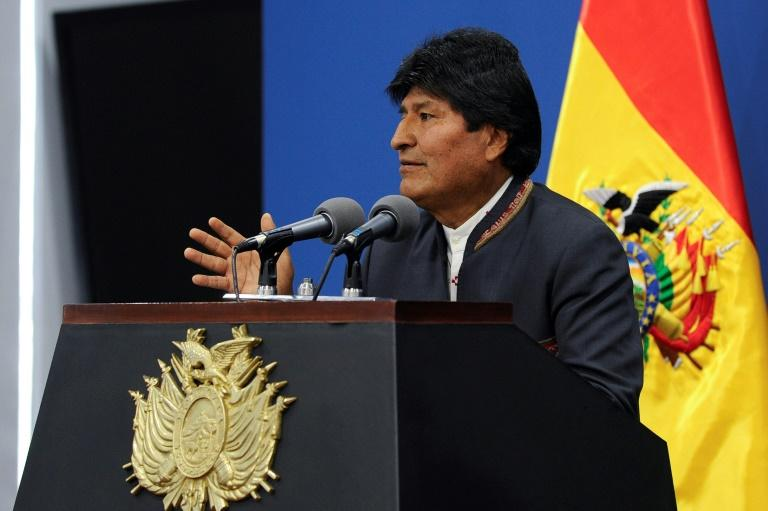 """President Evo Morales has said the protests are part of a """"coup d'etat"""" encouraged by opposition leader Carlos Mesa"""