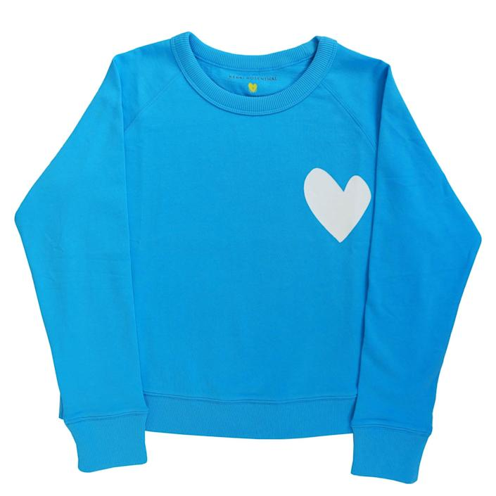 "<p>""I love this supercute and cozy blue <span>Imperfect Heart Sweatshirt</span> ($138) from Kerri Rosenthal. Perfect for my WFH uniform when I want to spread some cheer over the screen!"" - LS</p>"