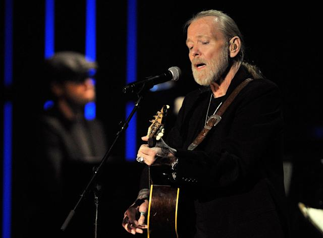 <p>Gregg Allman performs at the Americana Music Association awards show in Nashville, Tenn., Oct. 13, 2011. (AP Photo/Joe Howell) </p>
