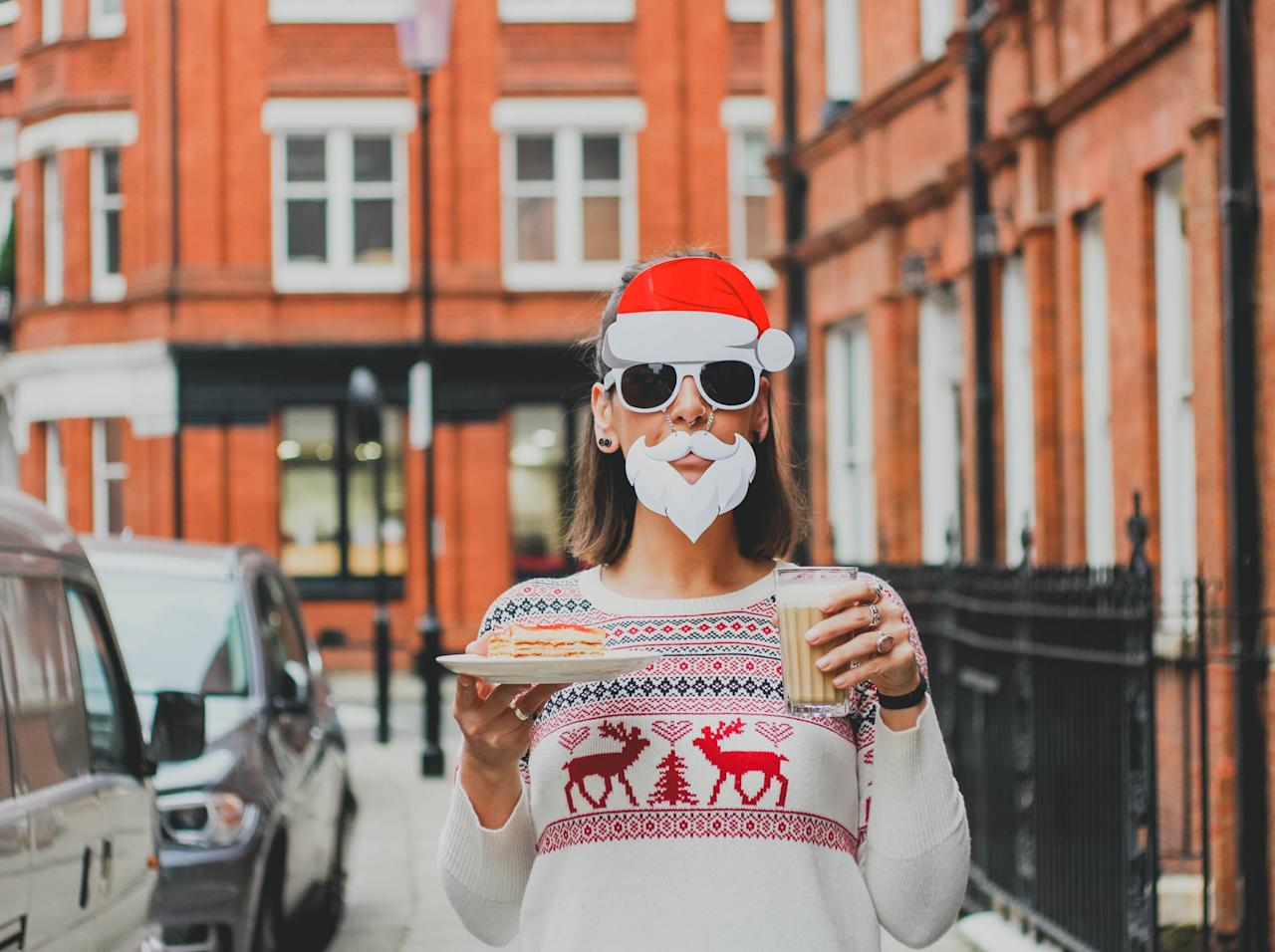 """<p>Who doesn't love a good themed party? Your annual Ugly Sweater Christmas Party will be everyone's favorite when you add a strict dress code of the <a href=""""https://www.popsugar.com/fashion/Ugly-Christmas-Sweaters-32410225"""" class=""""ga-track"""" data-ga-category=""""Related"""" data-ga-label=""""http://www.popsugar.com/fashion/Ugly-Christmas-Sweaters-32410225"""" data-ga-action=""""In-Line Links"""">ugliest sweaters</a> your guests can find. Make it fun by awarding a prize to the ugliest sweater.</p> <p>And if you're not much of a partier, host it on a smaller scale with just your closest friends. Make it a movie night with hot cocoa and junk food!</p>"""