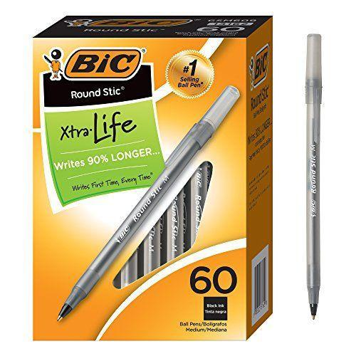 """<p><strong>BIC</strong></p><p>amazon.com</p><p><strong>$4.47</strong></p><p><a href=""""https://www.amazon.com/dp/B0012YVGOW?tag=syn-yahoo-20&ascsubtag=%5Bartid%7C10049.g.37113047%5Bsrc%7Cyahoo-us"""" rel=""""nofollow noopener"""" target=""""_blank"""" data-ylk=""""slk:Shop Now"""" class=""""link rapid-noclick-resp"""">Shop Now</a></p><p>Less than five bucks for a pack of 60 pens? SAY. LESS.</p>"""