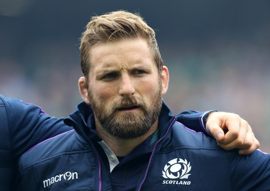 John Barclay will captain Scotland's rugby union team in June for tour matches against Italy, Australia and Fiji (AFP Photo/PAUL FAITH)