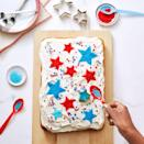 """<p>Use cookie cutters and sanding sugar to decorate a basic vanilla cake any way you (or dad!) want. </p><p><em><a href=""""https://www.goodhousekeeping.com/food-recipes/a4836/basic-vanilla-cake-69/"""" rel=""""nofollow noopener"""" target=""""_blank"""" data-ylk=""""slk:Get the recipe for Basic Vanilla Cake »"""" class=""""link rapid-noclick-resp"""">Get the recipe for Basic Vanilla Cake »</a></em></p>"""