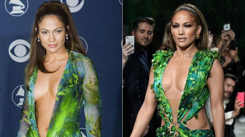 Jennifer Lopez Says Her Stylist Didn't Want Her to Wear the Green Versace Dress to the GRAMMYS
