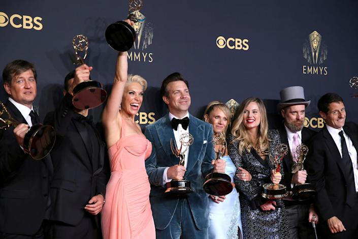 Ted Lasso cast celebrates at the Emmys