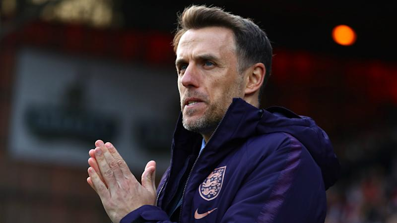 England manager Neville announces World Cup squad