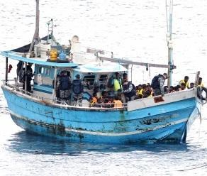 In plain sight: An earlier boat arrival at Christmas Island. Picture: Lincoln Baker/The West Australian