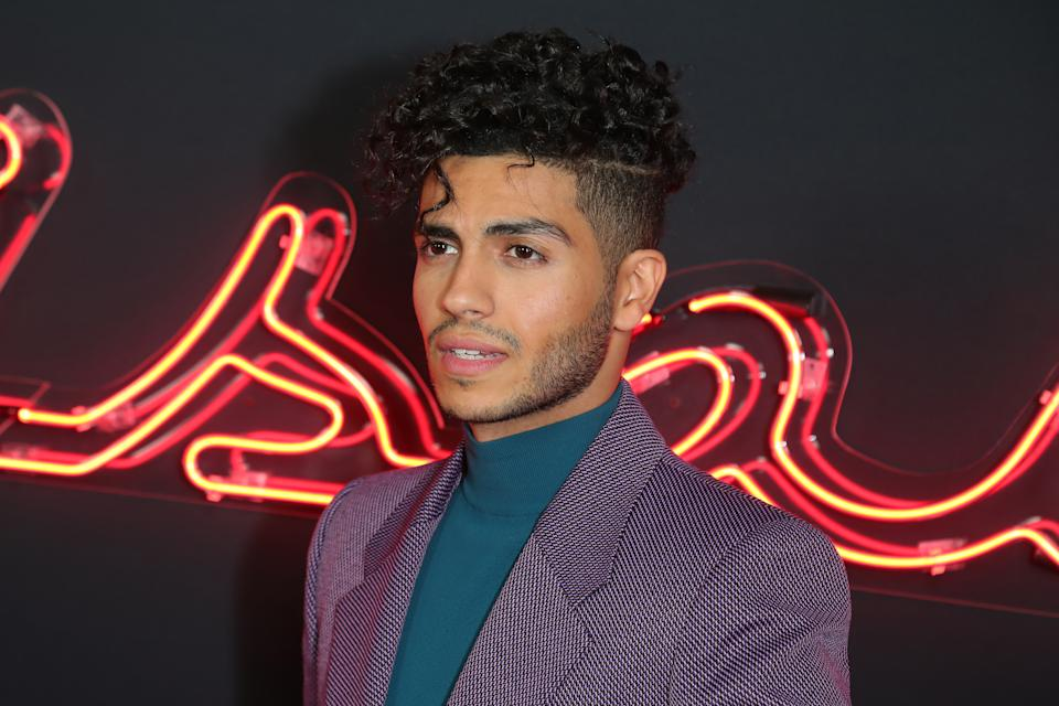 "HOLLYWOOD, CALIFORNIA - DECEMBER 05: Mena Massoud attends the premiere of Hulu's ""Reprisal"" Season One at ArcLight Cinemas on December 05, 2019 in Hollywood, California. (Photo by Leon Bennett/WireImage)"