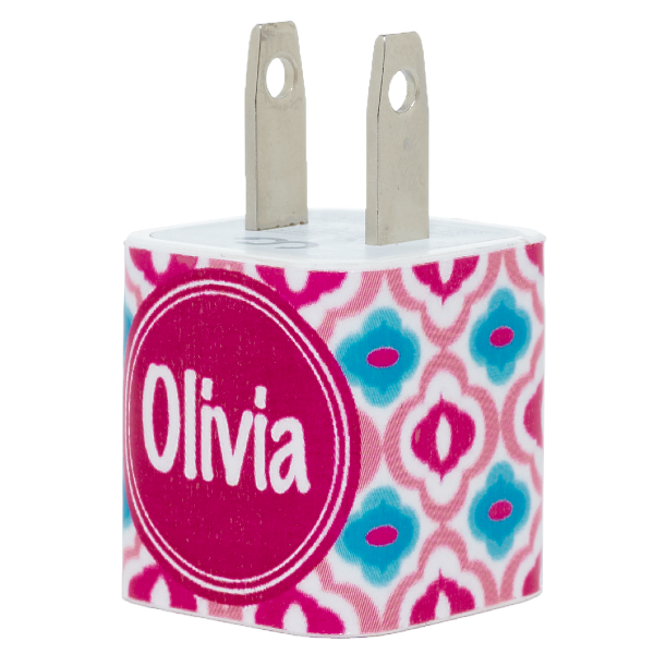 """<p>classychargers.com</p><p><strong>$22.00</strong></p><p><a href=""""https://classychargers.com/products/monogram-pink-blue-quatrefoil-phone-charger"""" rel=""""nofollow noopener"""" target=""""_blank"""" data-ylk=""""slk:Shop Now"""" class=""""link rapid-noclick-resp"""">Shop Now</a></p><p>Put a monogrammed charger in her stocking, and there will be no more arguing over the phone cables.</p>"""