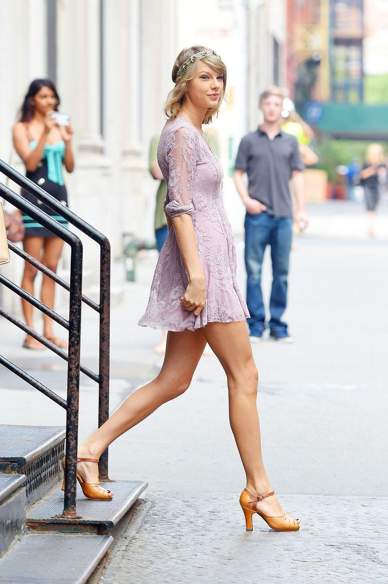 Taylor Swift in a Free People dress.