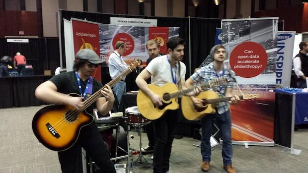 """<b class=""""credit"""">Tom Siebert</b>Analytics company Phoenix Cosmopolitan Group hired a band to get potential employees attention at SXSWi this week."""