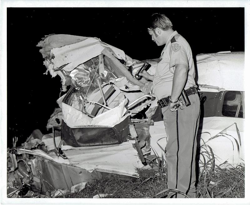 Photos from the scene of the plane crash that killed Jim Croce on Sept. 20, 2973 in Natchitoches, La.