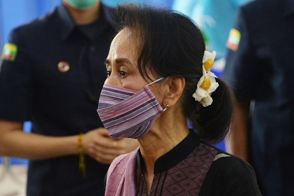FILE PHOTO: Myanmar's State Counsellor Aung San Suu Kyi. (Photo: THET AUNG/AFP via Getty Images)