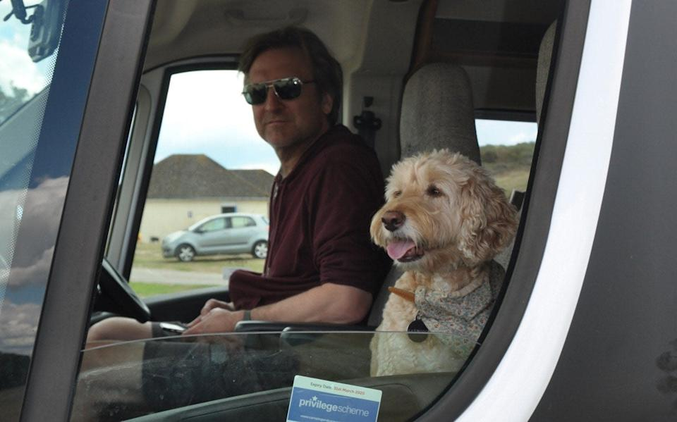 Tanith's husband Anthony and their dog Honey