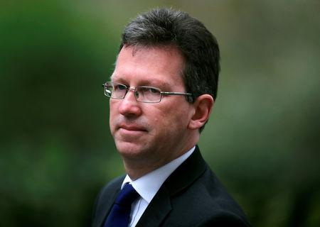 Britain's Secretary of State for Digital, Culture, Media and Sport Jeremy Wright is seen outside Downing Street in London
