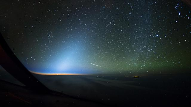 <p>The International Space Station and stars. (Photo: Christiaan van Heijst/Caters News) </p>