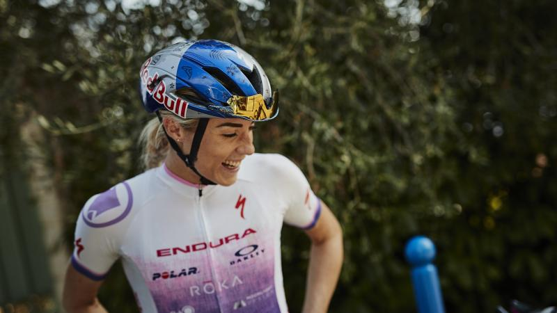 British triathlete Lucy Charles-Barclay wins silver at World Championships