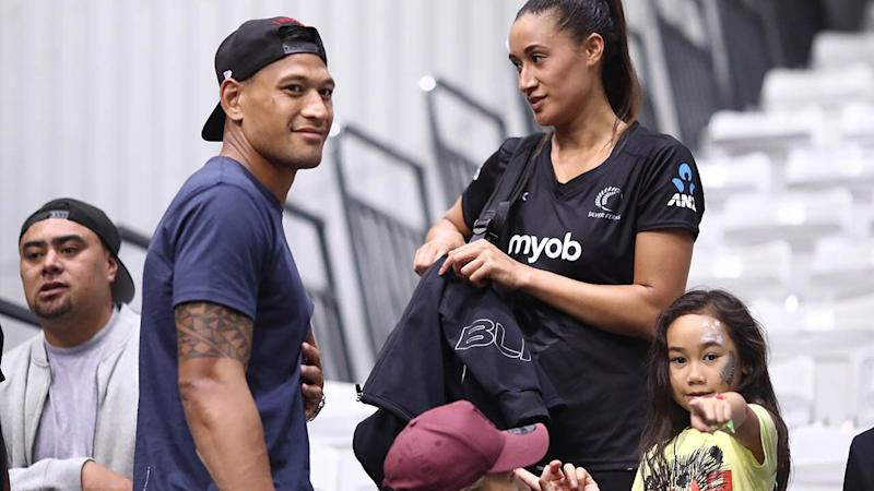 Maria and Israel Folau. (Photo by Phil Walter/Getty Images)