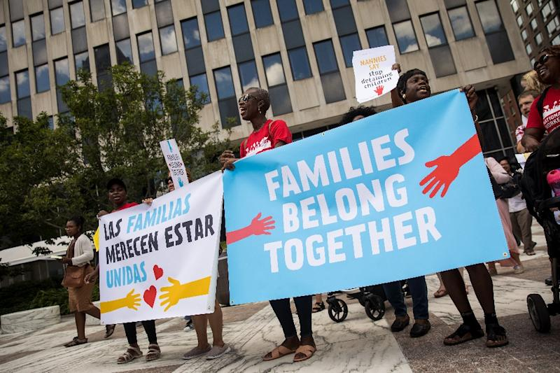 Activists protest against Donald Trump's administration's separation of illegal immigrant children from their parents