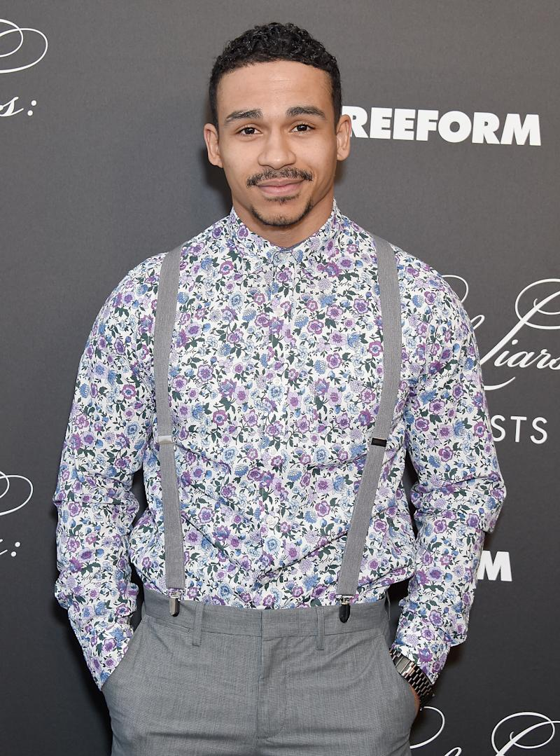 "HOLLYWOOD, CA - MARCH 15: Noah Gray-Cabey attends the ""Pretty Little Liars: The Perfectionists"" Premiere at Hollywood Athletic Club on March 15, 2019 in Hollywood, California. (Photo by Gregg DeGuire/FilmMagic)"