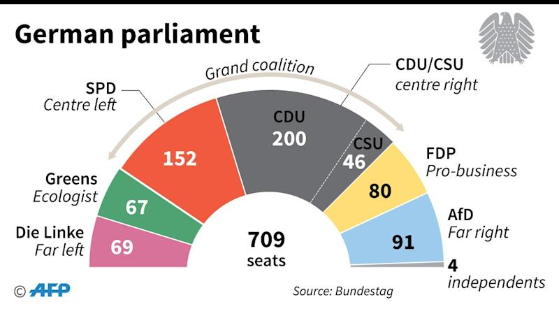 The make-up of the German parliament (AFP Photo/)