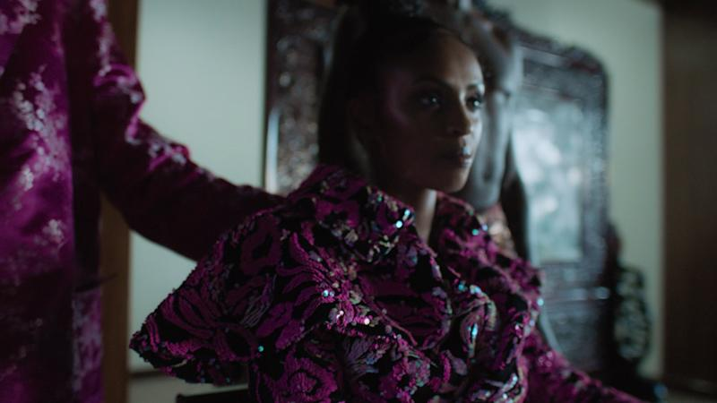 Model Anab, in the designer's Fall 2019 collection video.