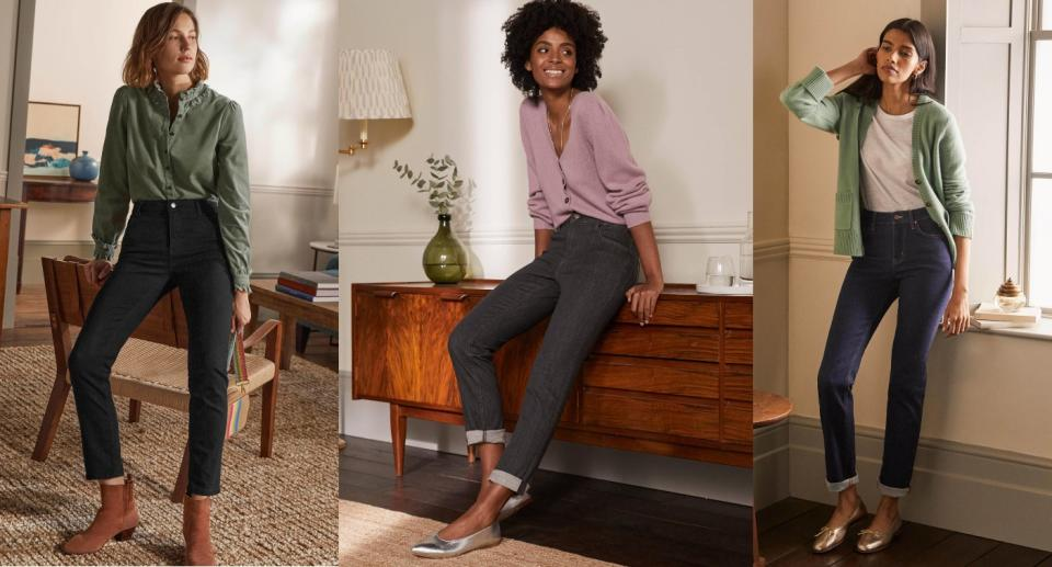 Boden's Slim Straight Jeans have been rated 4.5 out of 5 stars by shoppers. (Boden)
