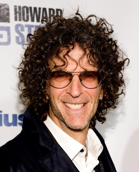 "Satellite radio talk show host Howard Stern arrives at ""Howard Stern's Birthday Bash,"" presented by SiriusXM, at the Hammerstein Ballroom on Friday, Jan. 31, 2014, in New York. (Photo by Evan Agostini/Invision/AP)"