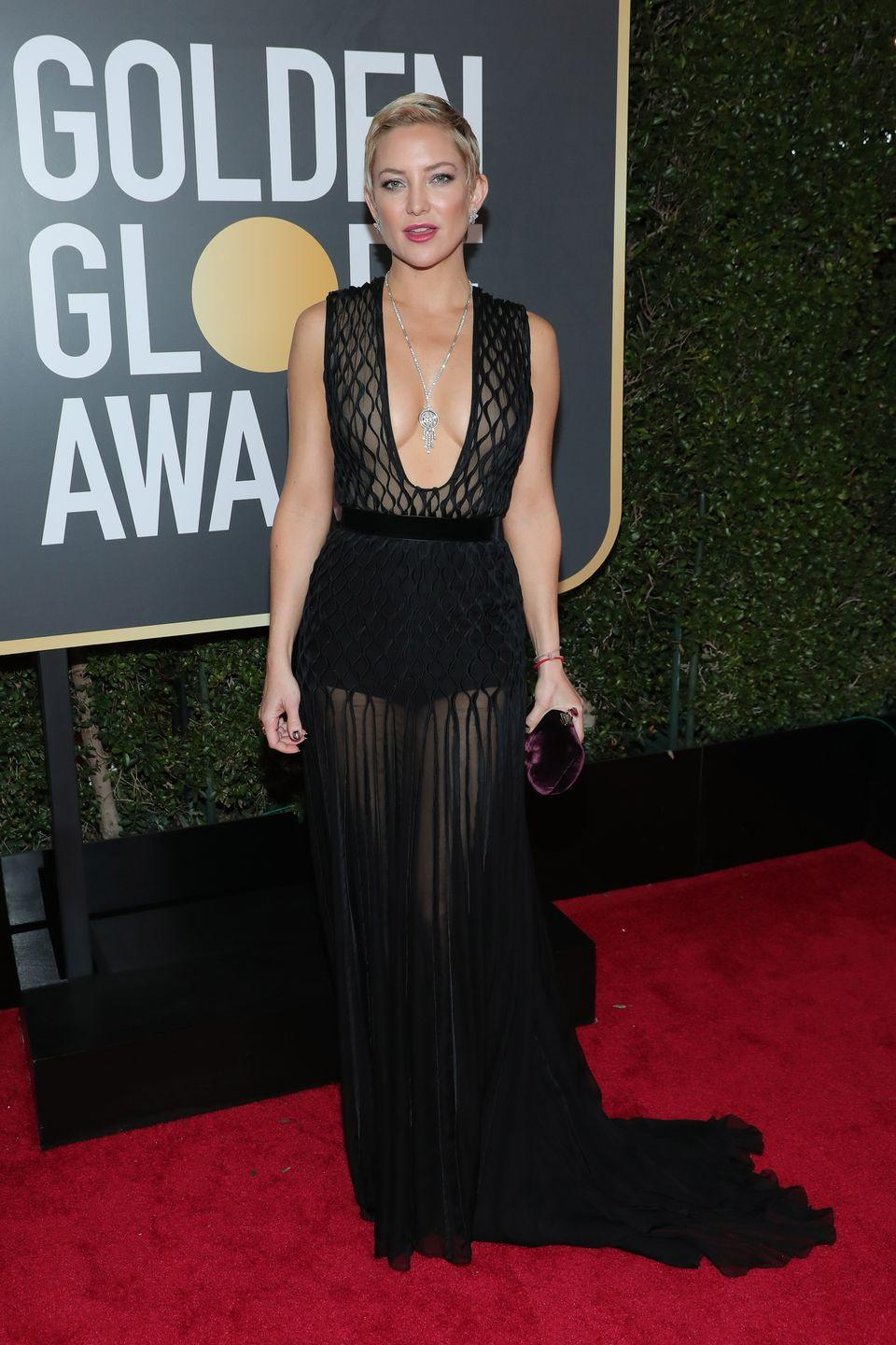 "<p>The Fabletics founder has always had an insanely fit physique. Her secret sauce includes Pilates (you can check out Kate's favorite moves <a href=""https://www.womenshealthmag.com/fitness/a19973467/kate-hudson-pilates-workout/"" rel=""nofollow noopener"" target=""_blank"" data-ylk=""slk:here"" class=""link rapid-noclick-resp"">here</a>) and Weight Watchers.</p>"