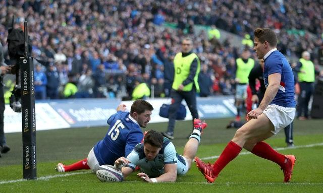 Scotland blew the championship wide open by ending France's winning run with a 28-17 success in Edinburgh in the final match before the coronavirus pandemic halted the tournament