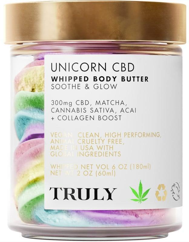 <p>Give them some self care with the <span>Unicorn CBD Whipped Body Butter</span> ($35). It has 300mg of CBD in a rich, whipped shea butter base and has an intoxicating sweet scent.</p>