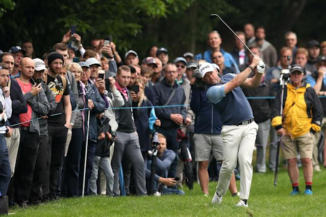 Golf - European Tour - BMW PGA Championship - Wentworth Club, Virginia Water, Britain - May 24, 2018 England's Lee Westwood in action during the first round Action Images via Reuters/Peter Cziborra
