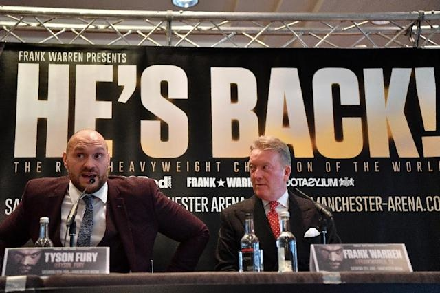 Former world heavyweight champion Tyson Fury says boxing is like a marriage in having peaks and torughs but he has rediscovered his passion for the sport ahead of his first bout in 924 days on Saturday (AFP Photo/Ben STANSALL)