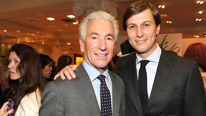 Charles Kushner and Jared Kushner attend LORD & TAYLOR Launches IVANKA TRUMP's Spring 2012 Collection at Lord & Taylor on March 28, 2012 in New York City. (Patrick McMullan/Patrick McMullan via Getty Images)