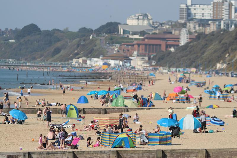 Britain could see a record-breaking Bank Holiday weekend as the country basked in sunshine (Picture: Andrew Matthews/PA Wire)