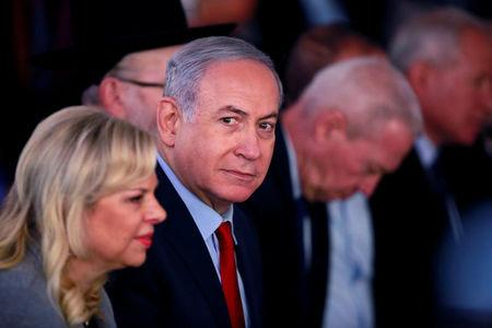Israeli Prime Minister Benjamin Netanyahu and his wife Sara attend an inauguration ceremony for a fortified emergency room at the Barzilai Medical Center in Ashkelon, southern Israel, February 20, 2018. REUTERS/Amir Cohen