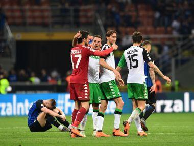 Inter's defeat means third-placed Roma — coached by former Sassuolo boss Eusebio Di Francesco — are sure to finish in the top four and return to the Champions League after losing in the semi-finals to Liverpool this month.