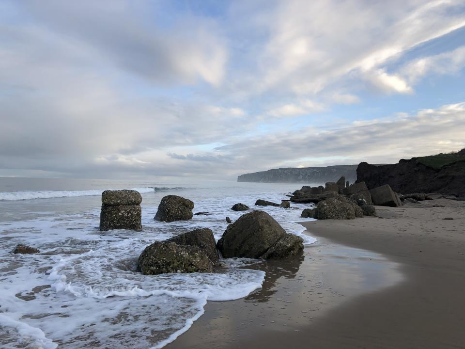The beach at Reighton Gap in East Riding on the Yorkshire coast (Getty)