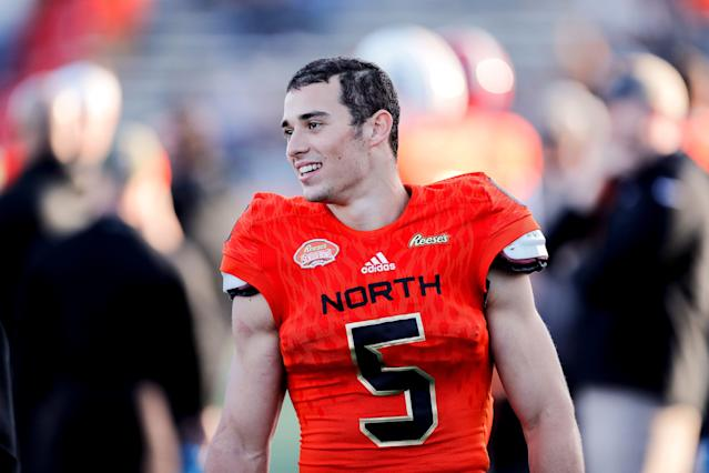 UMass wideout Andy Isabella followed up a strong Senior Bowl with an impressive combine. (Getty Images)