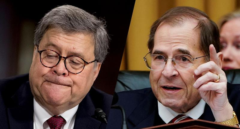 Attorney General William Barr and Rep. Jerry Nadler, D-N.Y. (Photos: Andrew Harnik/AP, Joshua Roberts/Reuters)