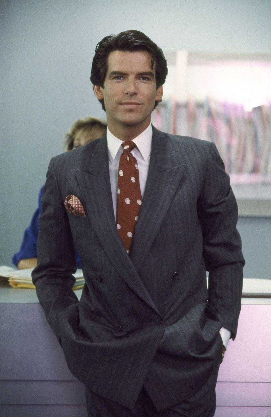 <p>From <em>Remington Steele</em> to <em>James Bond</em>, Pierce Brosnan's perfectly coiffed dark brown hair helped earned him a heartthrob status he's continued to hold for decades.</p>