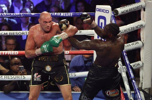 Tyson Fury, left, will fight Deontay Wilder for a third time this weekend (Bradley Collyer/PA)