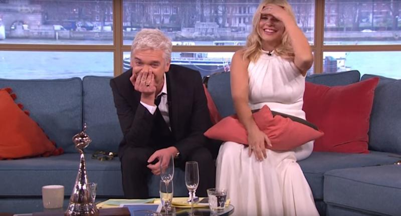 Phillip Schofield and Holly Willoughby made a drunken appearance on This Morning in 2016 (Photo: ITV)