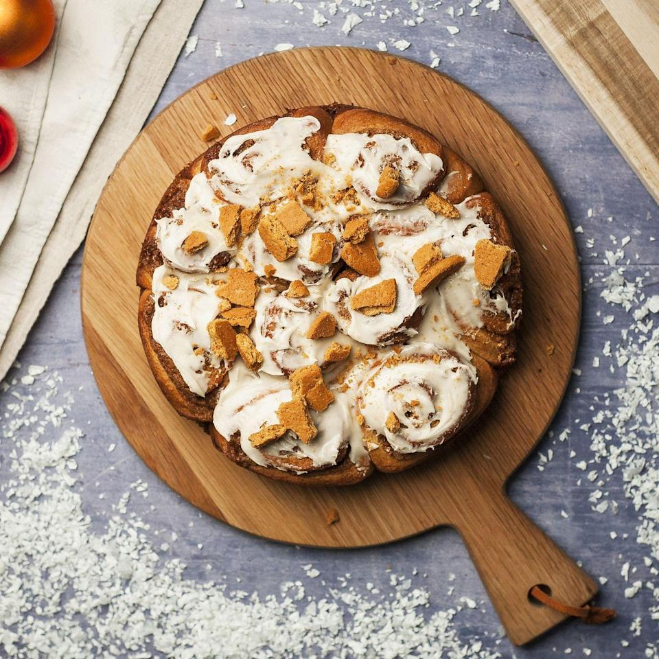 """<p>If you love a gingerbread latte during the festive season, then you'll love one of our warming spiced buns. If you don't want the extra caffeine kick in the icing, replace the espresso with water.</p><p><strong>Recipe: <a href=""""https://www.goodhousekeeping.com/uk/christmas/christmas-recipes/a34700117/gingerbread-latte-tear-share-bread/"""" rel=""""nofollow noopener"""" target=""""_blank"""" data-ylk=""""slk:Gingerbread Latte Tear and Share Bread"""" class=""""link rapid-noclick-resp"""">Gingerbread Latte Tear and Share Bread </a></strong></p>"""