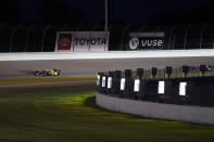 Colton Herta (26) drives during an IndyCar auto race at World Wide Technology Raceway on Saturday, Aug. 21, 2021, in Madison, Ill. (AP Photo/Jeff Roberson)