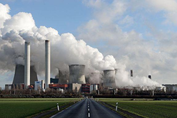 Steam rises from the brown coal-fired power plant Niederaussem operated by RWE in Bergheim, Germany, Jan. 13, 2017.