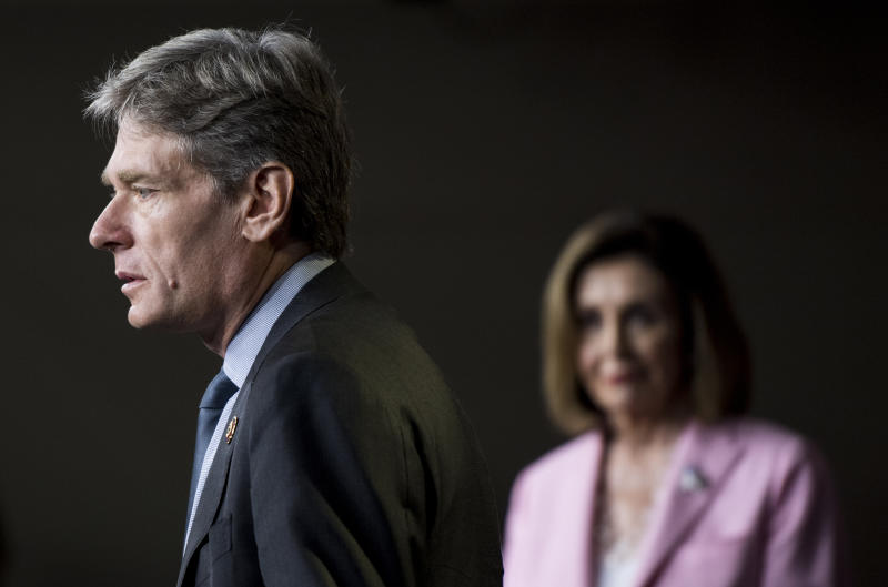 """UNITED STATES - SEPTEMBER 27: Rep. Tom Malinowski, D-N.J., speaks during the House Democrats news conference on H.R.1, the """"For the People Act"""" on Friday, Sept. 27, 2019. (Photo By Bill Clark/CQ-Roll Call, Inc via Getty Images)"""