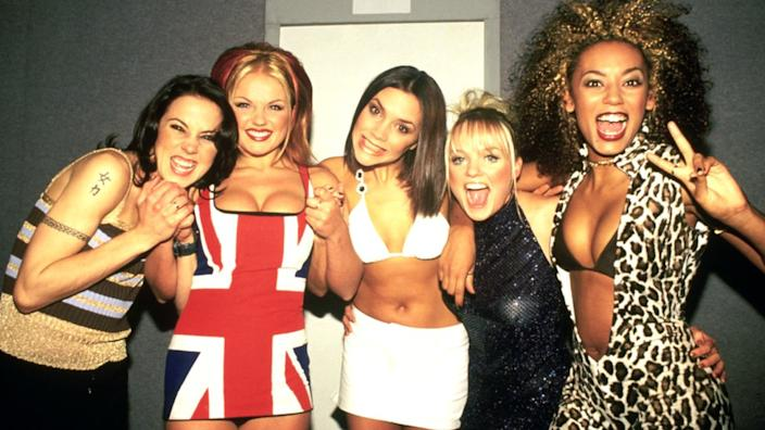 The Spice Girls in 1997: Mel C, Geri Horner, Victoria Beckham, Emma Bunton and Mel B