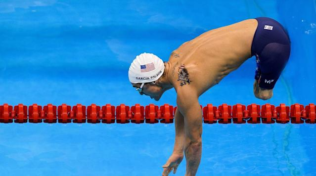 <p>Rudy Garcia-Tolson of the USA competes in Heat 1 of the Men's 100m Butterfly - S8 at the Olympic Aquatics Stadium at the Paralympic Games in Rio de Janeiro, Brazil.</p>