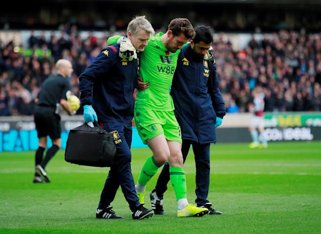 Aston Villa's Jed Steer picks up an injury (Credit: Getty Images)